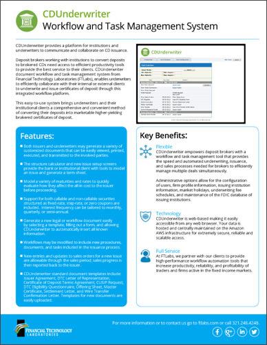 CDUnderwriter Sales Brochure